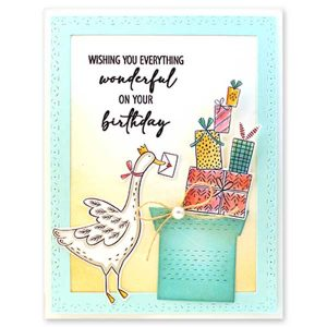 Penny Black Goose Gifts Stamp Set class=