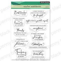 Penny Black Teacher Sentiments Stamp Set