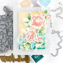 Pinkfresh Stuiod Joyful Peonies Stamp