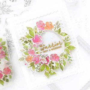 Pinkfresh Studio English Garden Stamp Set class=