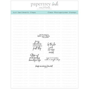Papertrey Ink Just Sentiments: Steps Mini Stamp