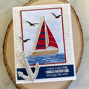 Papertrey Ink Weaved Background Stamp class=