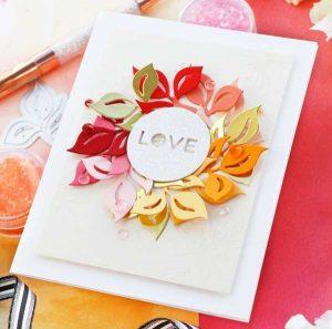 Pinkfresh Studio Curvy Leaves Die class=