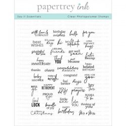 Papertrey Ink Say It Essentials Stamp