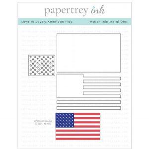 Papertrey Ink Love To Layer: American Flag Die