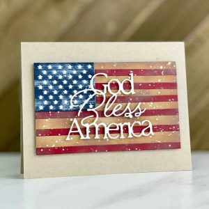 Papertrey Ink Love To Layer: American Flag Die class=