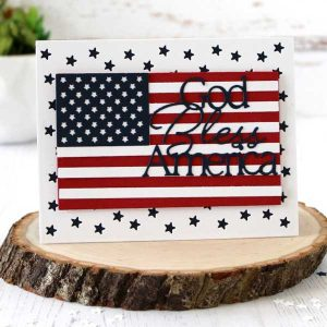 Papertrey Ink To Die For Sentiments: God Bless America Die class=