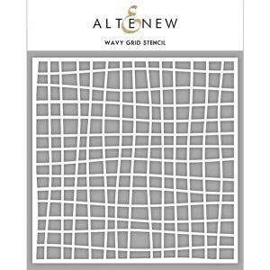 Altenew Wavy Grid Stencil