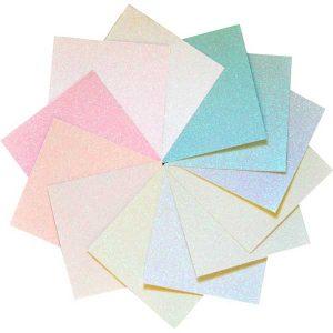 """Memory Box Glitter Paper Pad 6""""X6"""" - Delicate Pastel class="""