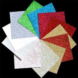 "Memory Box Glitter Paper Pad 6""X6"" - Holiday class="