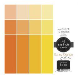 Memory Box 110lb Solid Cardstock 6″X6″– Sunny Orange