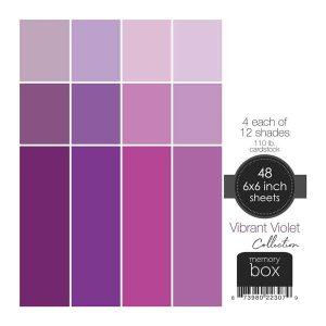Memory Box 110lb Solid Cardstock 6″X6″– Vibrant Violet