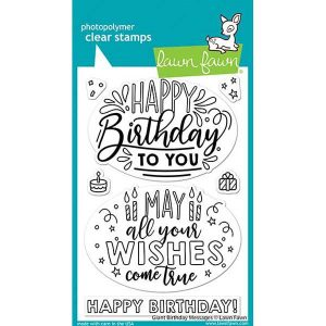 Lawn Fawn Giant Birthday Messages Stamp