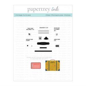 Papertrey Ink Vintage Suitcase Stamp