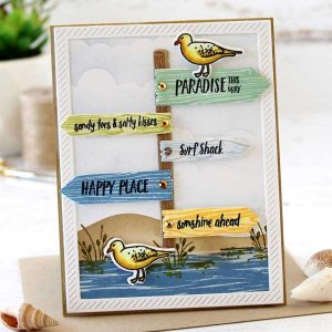 Papertrey Ink Paradise This Way Stamp class=
