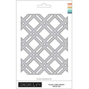 Concord & 9th Thick Plaid Card Front Die