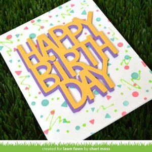 Lawn Fawn Giant Happy Birthday Die class=