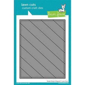 Lawn Fawn Simple Stripes: Diagonal Die