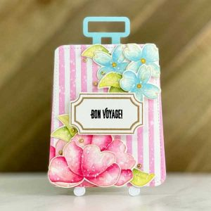 Papertrey Ink Go-To Gift Card Holder: Vintage Suitcase Die class=