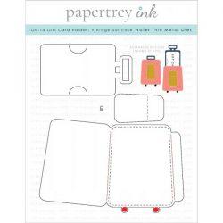 Papertrey Ink Go-To Gift Card Holder: Vintage Suitcase Die