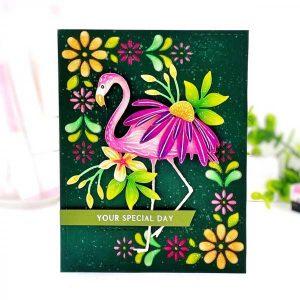 Papertrey Ink Border Bling: Flower Frame Die class=