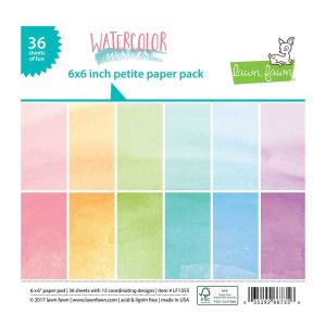 Lawn Fawn Watercolor Wishes Rainbow Petite Paper Pack