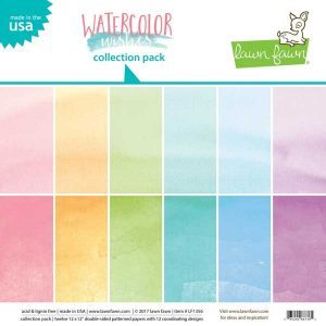 Lawn Fawn Watercolor Wishes Rainbow Collection Pack