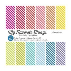 "My Favorite Things Stripe Splash Paper Pad - 6"" x 6"""