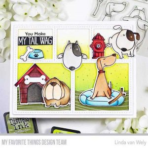 My Favorite Things You Make My Tail Wag Stamp class=
