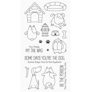 My Favorite Things You Make My Tail Wag Stamp