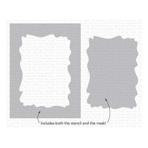 My Favorite Things Watercolor Wash Rectangle Stencil