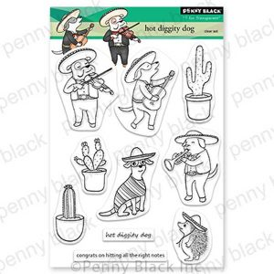 Penny Black Hot Diggity Dog Stamp Set