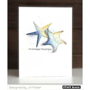 Penny Black Starfish Wishes Stamp class=
