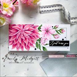 Pink Fresh Studio Miss Your Smile Slimline Stamp