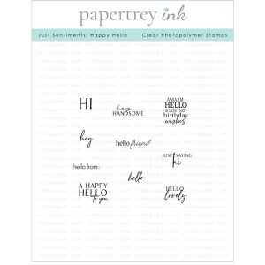 Papertrey Ink Just Sentiments: Happy Hello Stamp