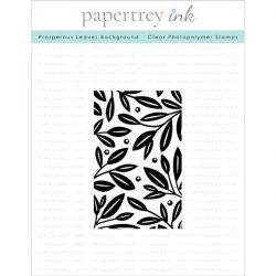 Papertrey Ink Prosperous Leaves Background Stamp