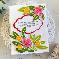 Papertrey Ink Inside Greetings: Happy Hello Stamp