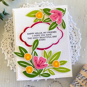 Papertrey Ink Inside Greetings: Happy Hello Stamp class=