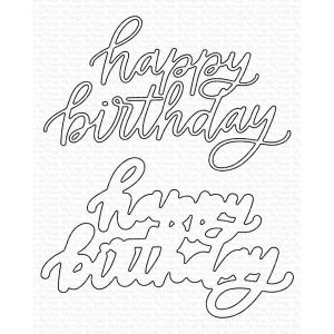 My Favorite Things Happy Birthday Die-namics