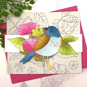 Papertrey Ink Stitched In Love Die class=
