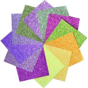 """Memory Box Glitter Paper Pad 6""""X6"""" - Graceful Garden class="""