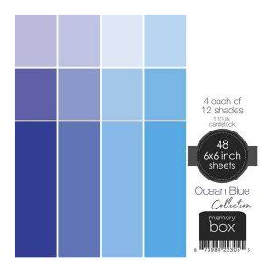 Memory Box 110lb Solid Cardstock 6″X6″– Ocean Blue