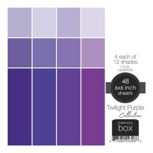 Memory Box 110lb Solid Cardstock 6″X6″– Twilight Purple