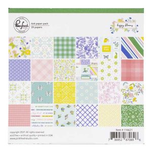 """PinkFresh Studio Happy Blooms Double-Sided Paper Pack 6""""X6"""""""
