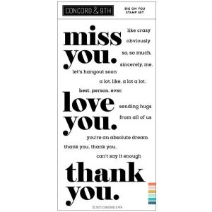 Concord & 9th Big On You Stamp Set