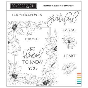 Concord & 9th Heartfelt Blossoms stamp set
