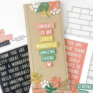 Concord & 9th Mix and Match Everyday Sentiments Stamp Set class=