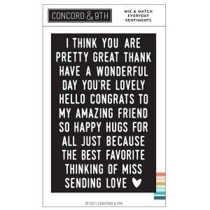 Concord & 9th Mix and Match Everyday Sentiments Stamp Set