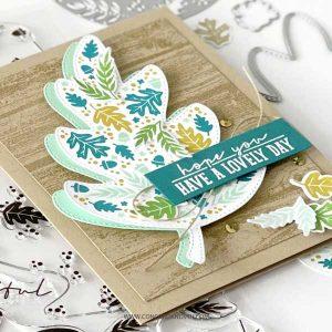 Concord & 9th Triple-Step Autumn Leaf Stamp Set class=