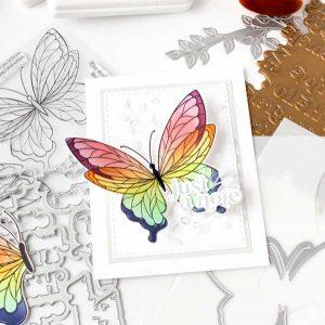 Pinkfresh Studio Perfect Sentiments Stamp Set class=